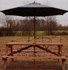 attractive picnic table with umbrella hole small patio table with