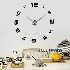 original brand black numbers fashion large 3d wall clock home
