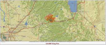 California Wildfire Smoke Map by King Fire Saturday Update Fire Grows Slightly Weather Helpful