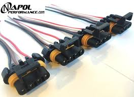 4 x ls1 ls6 ignition coil wiring harness pigtail connector gm