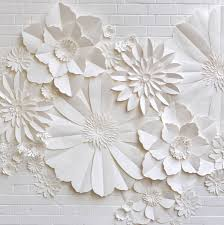 paper flowers handmade paper flower wall installation by may contain glitter