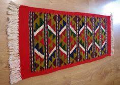 Serape Table Runner Vintage Red Peruvian Table Runner Table Linen Woven Serape Table