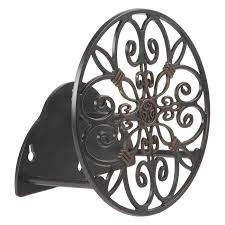 Wall Mounted Hose Reels Garden Metal by Belham Living Monroe Wall Mounted Hose Holder Black Finish