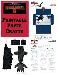 train dragon 2 printable paper crafts reader