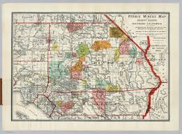 Southern Ca Map Desert Region Of Southern California David Rumsey Historical Map