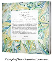 Ketubahs What U0027s The Difference Between A Ketubah On Paper Or Canvas Faqs