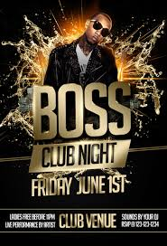 boss night party flyer template black by imperialflyers on deviantart