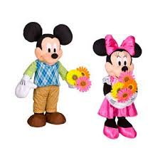 easter greeters mickey mouse minnie mouse gemmy industries