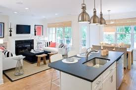 kitchen attached to small family room small open kitchen design