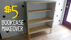 How To Turn A Dresser Into A Bookshelf 5 Ugly Bookcase Makeover W Reclaimed Wood Youtube