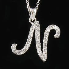 jewelry necklace letters images Fashion letter n pendant jewelry wholesale letter n pendant jpg