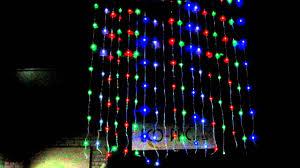 christmas led waterfall curtain lights 3 x 3m multi colour youtube