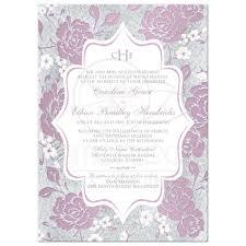 monogram wedding invitations mauve floral monogrammed wedding invitation