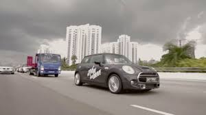 car junkyard singapore mini partners with a towing company to give test drives to