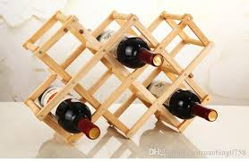 cheap folding wood wine rack wine bottle holder storage