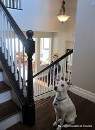 How To Paint Stair Banisters Painted Stair Rails Paint Stairs Stair Railing And Creamy Mushrooms