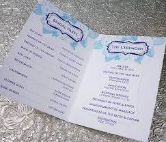 wedding program template hydrangea 4 page booklet wedding program template print