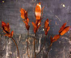 silver malibu agave flowering metal yard art by topangapatina on