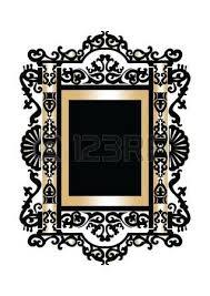 baroque rococo mirror frame decor vector luxury rich