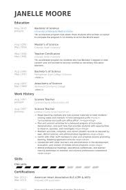 Samples Of Resume Formats by Science Teacher Resume Samples Visualcv Resume Samples Database