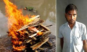 human cremation moradabad up found dead human flesh from cremation
