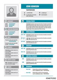 Free Colorful Resume Templates Resume Cv Vector Concept Layout In A4 Format Business Resume