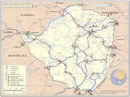 Zimbabwe Map Zimbabwe Road Network Map