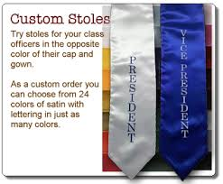graduation stole custom custom graduation stoles class of 2016 stoles senior class