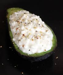 Cottage Cheese Recepies by Avocado And Cottage Cheese Snack Popsugar Fitness