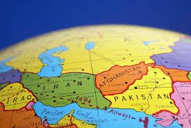 map iran iraq global map of iran iraq afghanistan pakistan photograph by donald
