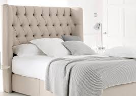 Bed With Headboard Bed Button Back Headboard Tufted Nailhead Headboard Wood King