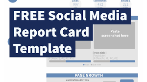weekly social media report template free social media report card template photoshop psd