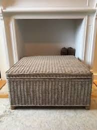 Chest Coffee Table Wicker Storage Chest Coffee Table Reduced Ebay