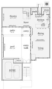 contemporary style house plan 4 beds 2 5 baths 2592 sq ft plan