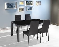 Black Glass Dining Room Sets Ebs Black Glass Dining Table And 4 Chairs Dining Room Furniture
