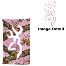 outdoor picnic beach towel browning white and pink outline