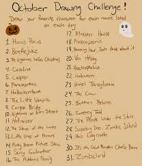 Halloween Drawing October Drawing Challenge Diy Pinterest Drawing