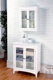 Floor Cabinet For Bathroom Amazon Com Elegant Home Fashions Madison Collection Shelved