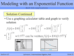 Graphing Calculator With Table Using Exponential Functions Ppt Video Online Download