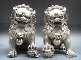 lion dog statue the three celestial guardians foo dog tattoo foo dog and lions