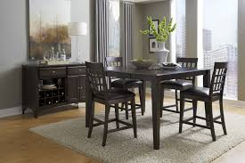 bristol point rectangular gathering height dining table in warm