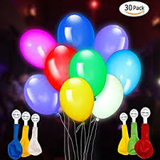 led light up balloons pack of 15 mixed color