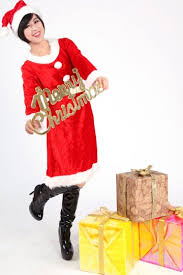 mrs santa claus costume 39 27 belted button mrs santa claus costume for