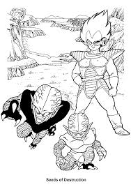 coloring page dragon ball z coloring pages 37