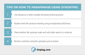 to paraphrase using synonyms practical tips