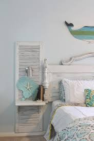 shabby chic beach bedroom awesome shutter nightstands built onto