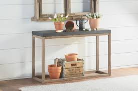 Side Table With Shelves Industrial Magnolia Home