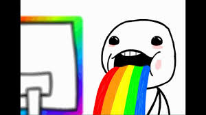 Rainbow Meme - puking rainbow meme video dailymotion