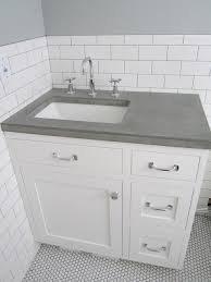 Tiled Vanity Tops Subway Tiles Vanity With Concrete Top New Master Ensuite