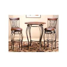 High Bistro Table Bar Stool Ambassador Rich Cherry 42 Inch High Pub Table And Two